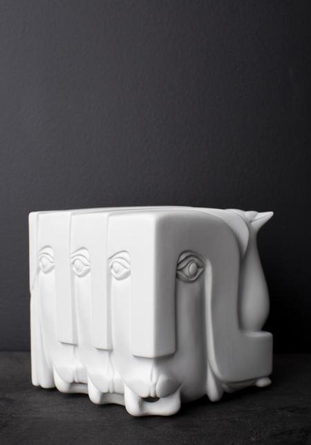 Vista Alegre 1824 War and Peace Gargoyle Porcelain Sculpture - white
