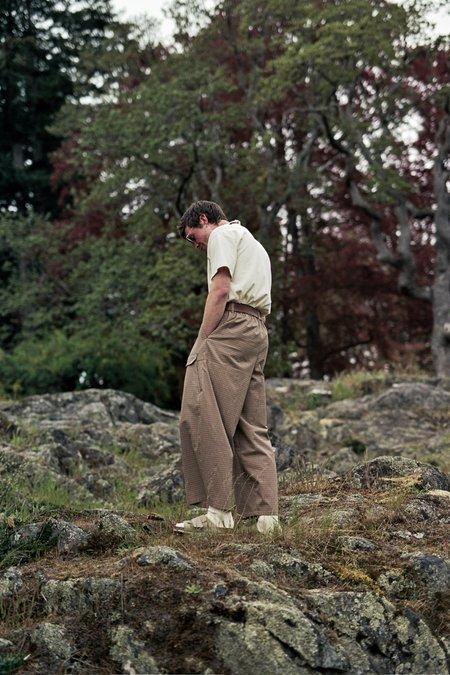 Camiel Fortgens Research Double Pants - Check Cotton