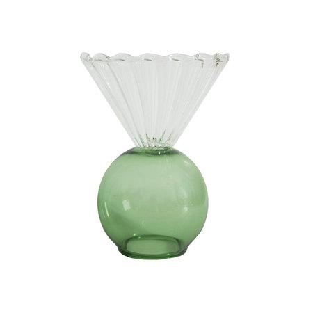 Natalia Criado Crystal Cup vase - Green