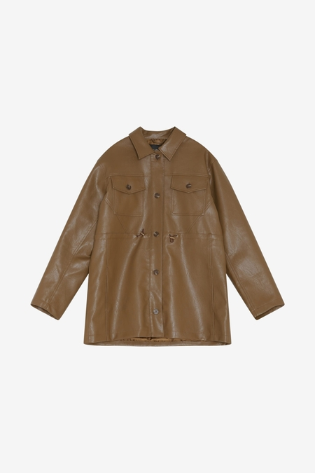 Han Kjøbenhavn Desk Jacket - Brown Vegan Leather