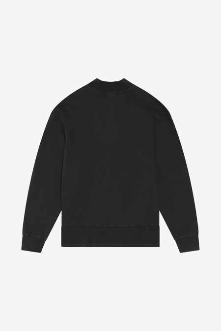 Han Kjøbenhavn Half Zip Sweat - Faded Black HK
