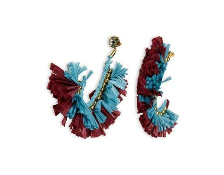 La Double J J Earrings - Azzurro/Bordeaux