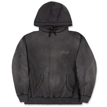 AWAKE Sunbleached Logo Hoodie SWEATER - Black