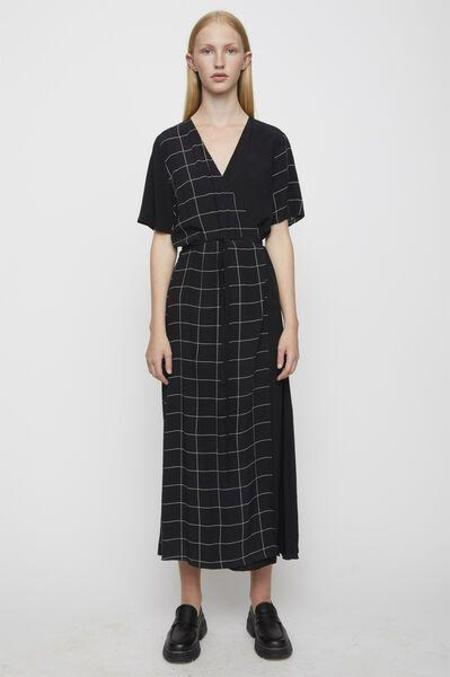 Just Female Robe Wrap Maxi  Halle - Half Check