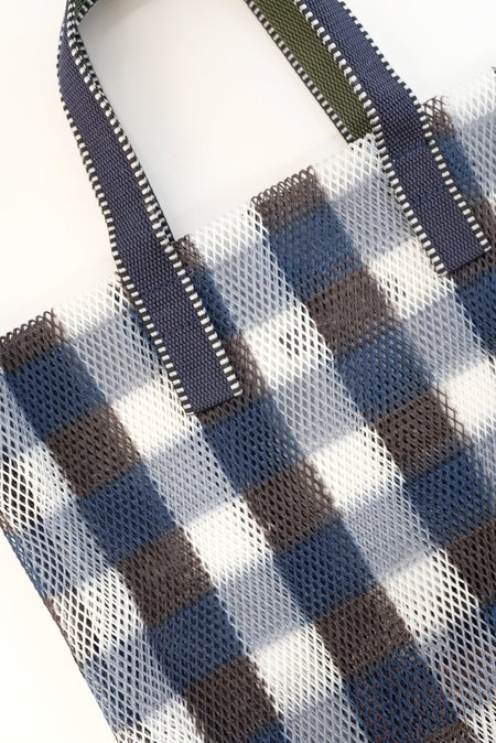 Épice Kanpur Check Mesh Bag - ultramarine