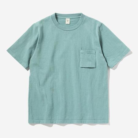 Jackman High-Density Dotsume S/S Pocket T-Shirt - Fade Green