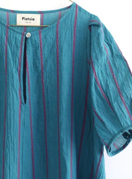 Pietsie Springs Dress - Turquoise/Pink Shadow Stripe
