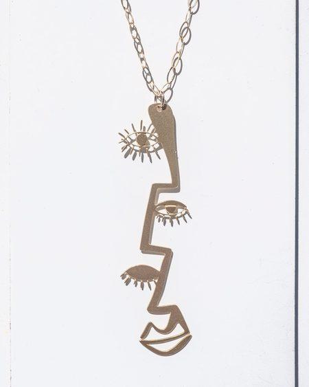 Fool's Gold Peillon Necklace - Brass