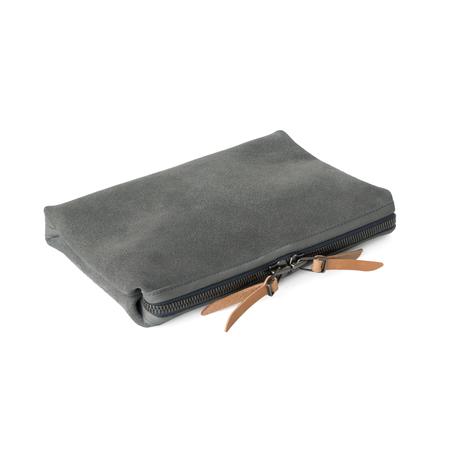 unisex MAKR Organizer Pouch bag - Lead Horween® Suede