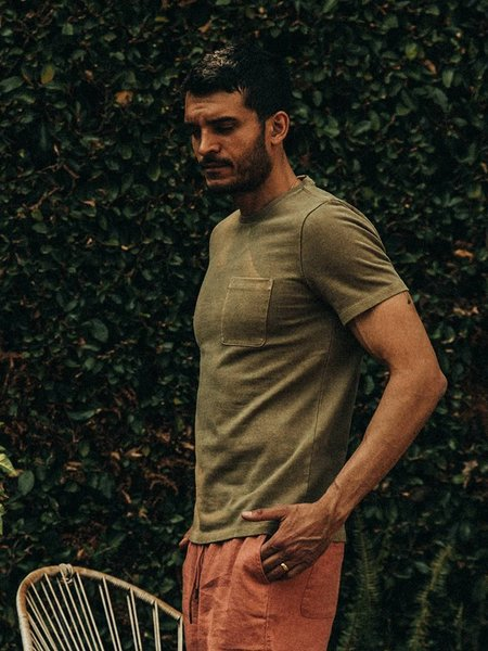 Taylor Stitch Heavy Bag Tee - Olive