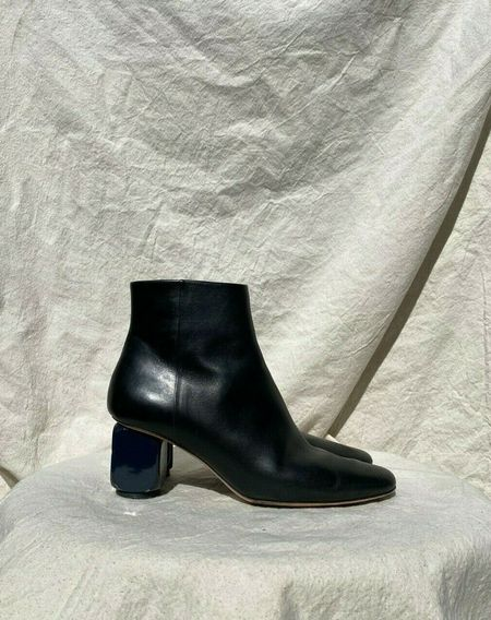 [Pre-loved] The Row Bowin Cube Heel Boot