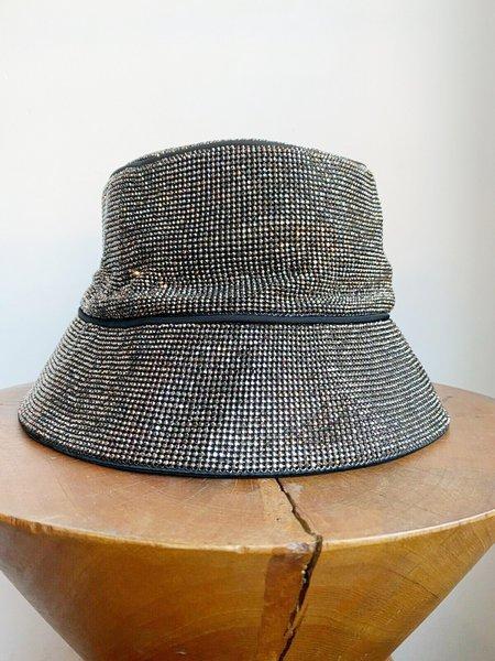 [Pre-loved] Kara Hematite Rhinestone Bucket Hat W Tags