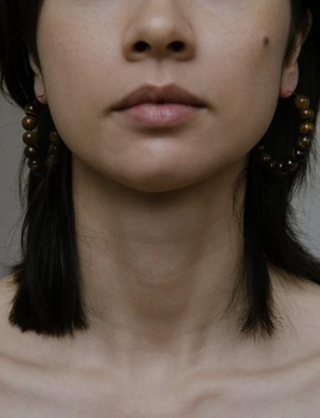 Vermeer Studio Margaret Hoops - Tiger eye/Gold