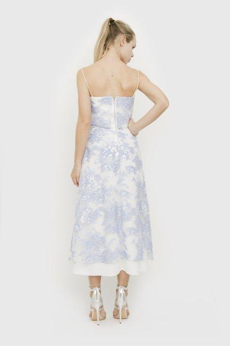 Pre-loved ORGANZA JACQUARD DRESS - White/lilac