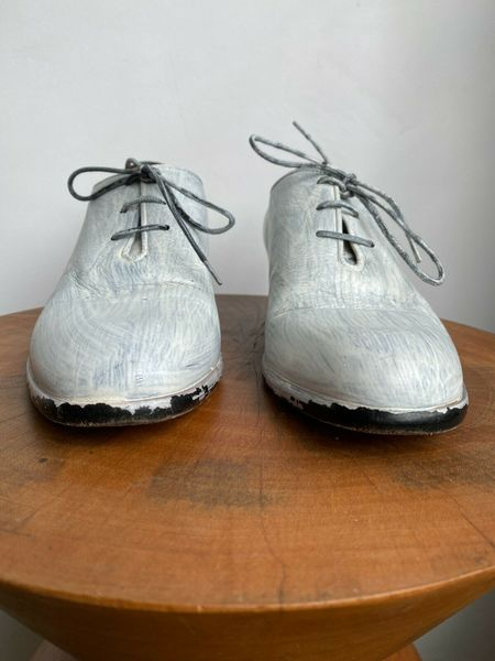margiela PAINTED OXFORD - white