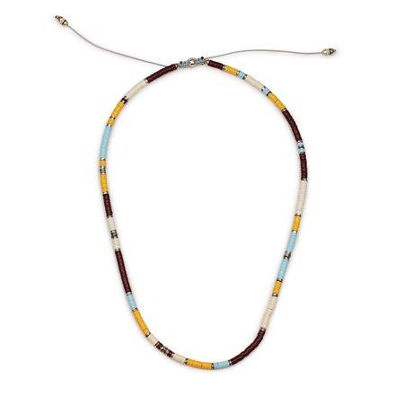 M. COHEN Africondia Beaded Bracelet Necklace - Silver/Mix
