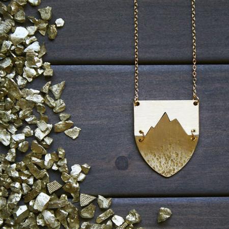 Nea Collier Apex Necklace - Gold