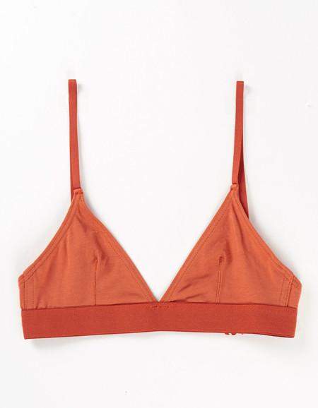 Nude Label Triangle Bra Rust