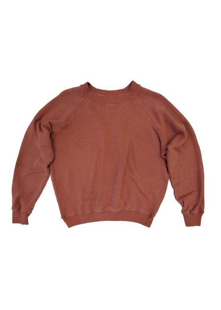 Jungmaven Bonfire Raglan Sweatshirt - Terracotta