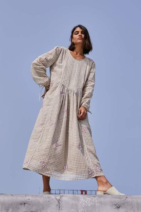 RUJUTA SHETH Tanya Dress - Earth Chex