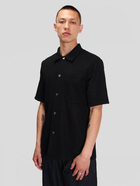 Our Legacy Box Shortsleeve Shirt - Black Boucle