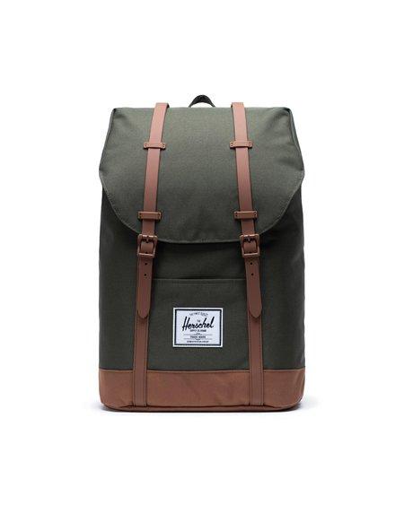 HERSCHEL SUPPLY CO Retreat Backpack - Dark Olive/Saddle Brown