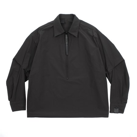 N.hoolywood Half Zip Pullover Shirt - Black