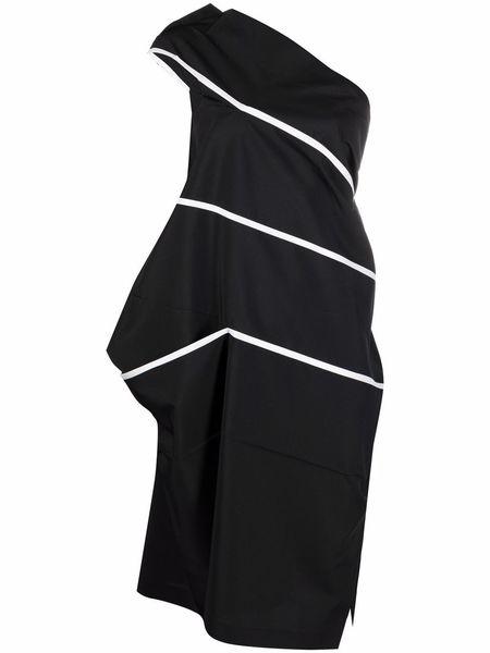 Issey Miyake Dress - Black/White Stripes