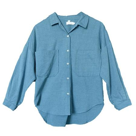 Nico Nico Jaan Button Up Shirt - Denim Blue