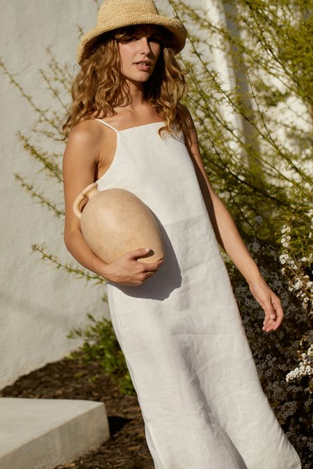 Whimsy + Row Loni Dress - White Linen