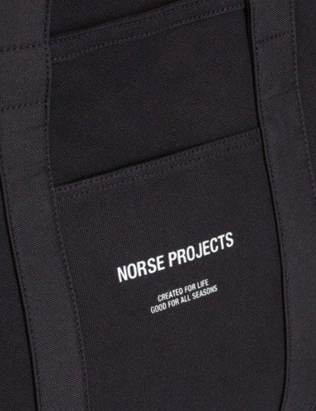 Norse Projects Stefan Canvas Bag - Black