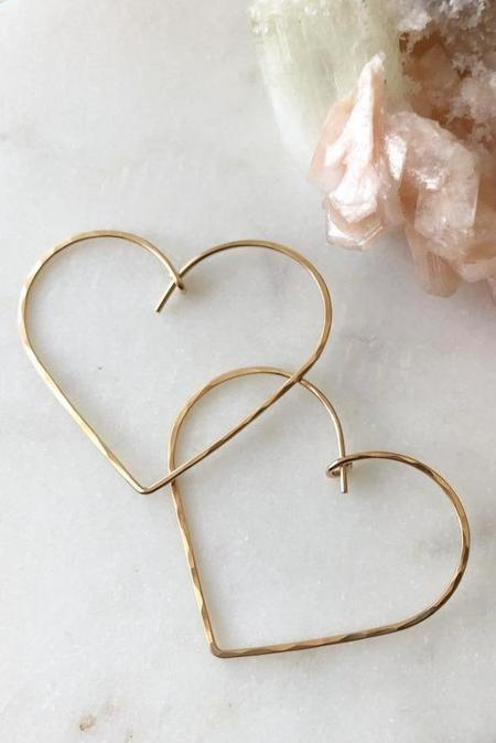 Token Heart Hoops - Gold