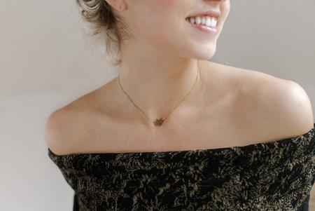 Token Sweetheart Choker Necklace - Gold