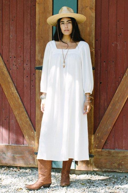 Rachel Pally Linen Simone Dress - Cloud Check