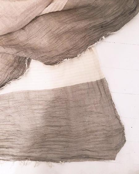 PERSONS Color-Blocked Cotton Scarf - Salt