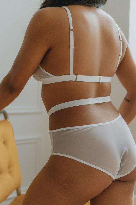 Mary Young Caden Cutout Brief - White