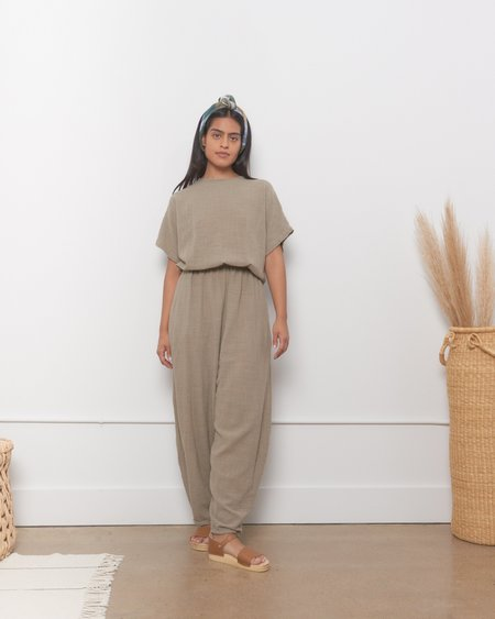 Mary Young Easy Jumpsuit - Stone
