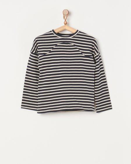 Caron Callahan Miles Top - Navy Breton Stripe
