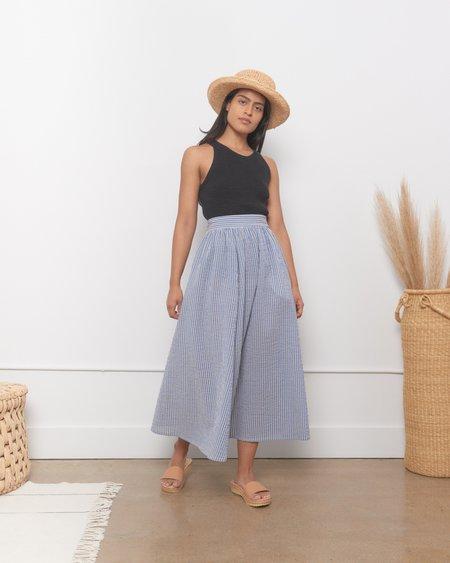 Caron Callahan Rita Skirt - Blue Gauze Stripe