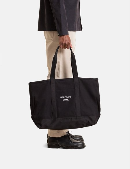 Norse Projects Stefan Canvas Bag - Black