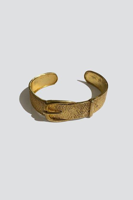 Vintage Belt Buckle Bracelet - Gold Vermeil