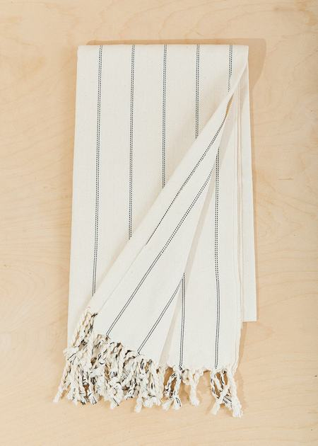 Territory Tunisian Beach & Bath Towel - Cream