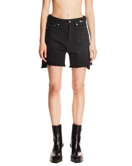 Rick Owens Drkshdw Denim Miniskirt - Black