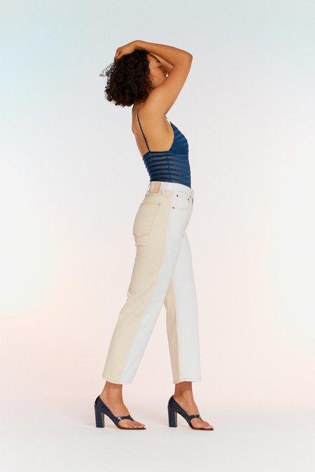 B Sides Plein Relaxed Straight Jean - Halfsie Tile White/Clair