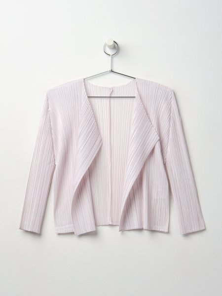 Pleats Please By Issey Miyake Monthly Colors Cardigan - Light Pink