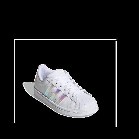 Kids adidas Superstar Iridescent FV3147 sneakers - white
