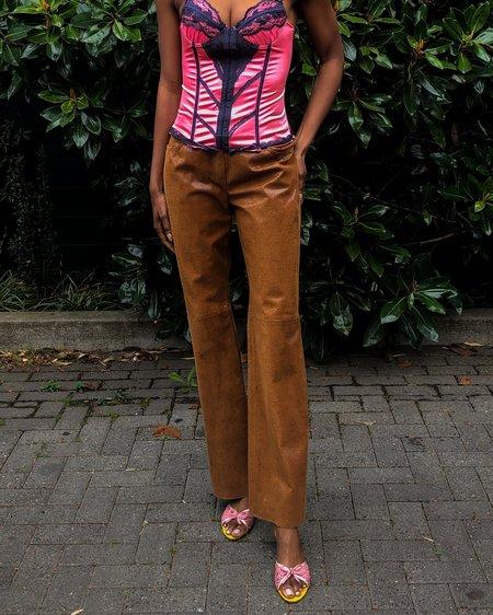 Vintage St John Shimmer Leather Trousers