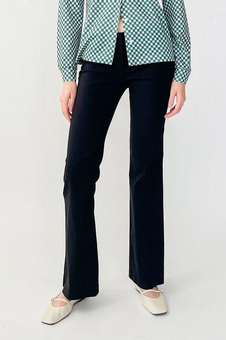 Vintage Low Rise Baby Flare Pants - Black