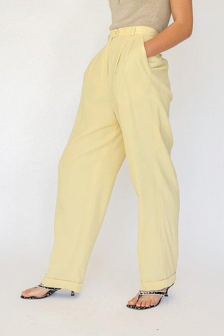 Vintage Ralph Lauren Pleated Trousers - Cream