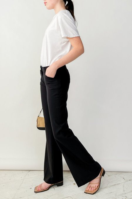 Vintage Theory Low Rise Baby Flare Pants - Black